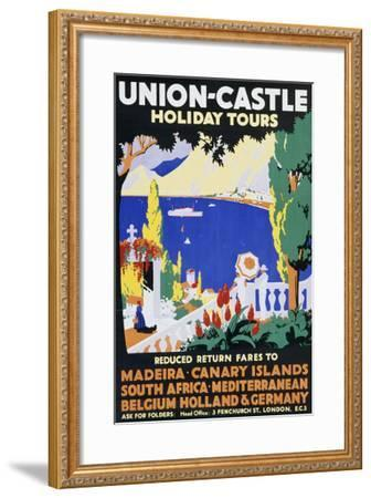 Union-Castle Holiday Tours--Framed Giclee Print