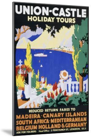 Union-Castle Holiday Tours--Mounted Giclee Print