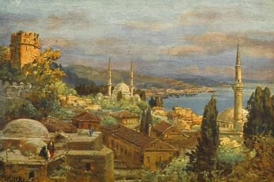 View of the Bosphorus--Stretched Canvas Print