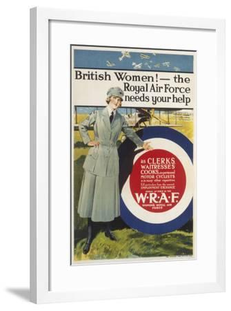 Wraf Recruitment Poster--Framed Giclee Print