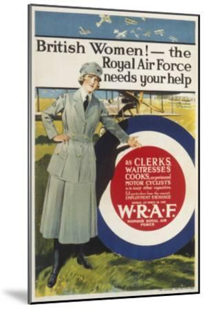 Wraf Recruitment Poster--Mounted Giclee Print