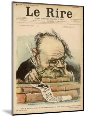 Emile Zola, French Novelist--Mounted Giclee Print