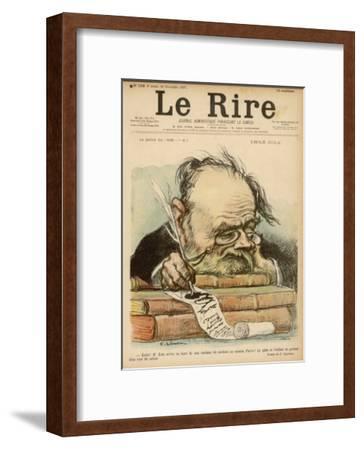 Emile Zola, French Novelist--Framed Giclee Print