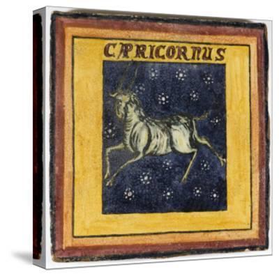 Zodiac Tile / Capricorn--Stretched Canvas Print