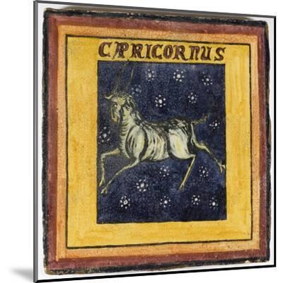Zodiac Tile / Capricorn--Mounted Giclee Print