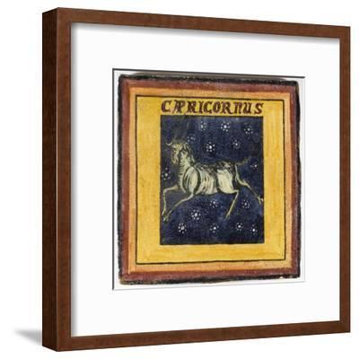 Zodiac Tile / Capricorn--Framed Giclee Print