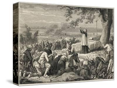 Vendee : Catholics--Stretched Canvas Print