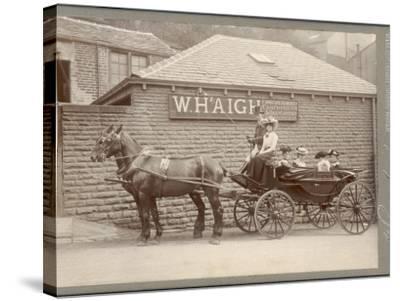 A Huddersfield Horse Cab--Stretched Canvas Print