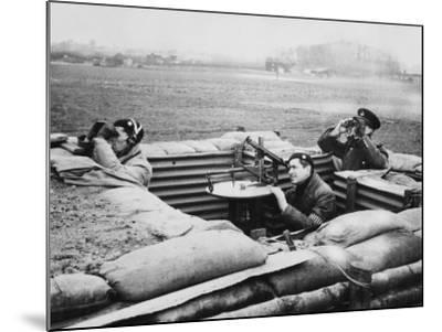 Aircraft Observer Post, During World War Ii-Robert Hunt-Mounted Premium Photographic Print