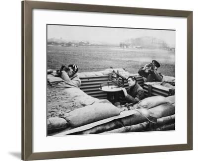 Aircraft Observer Post, During World War Ii-Robert Hunt-Framed Premium Photographic Print
