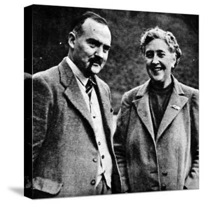Agatha Christie and Max Mallowan--Stretched Canvas Print
