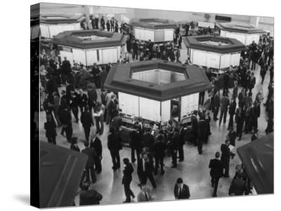 A Busy Scene at the London Stock Exchange--Stretched Canvas Print