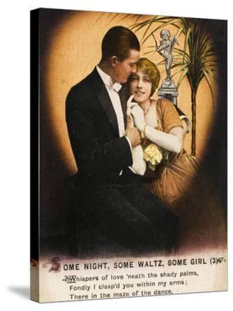 Couple Waltz 1914--Stretched Canvas Print
