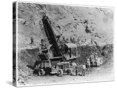 Construction of Hoover Dam--Stretched Canvas Print