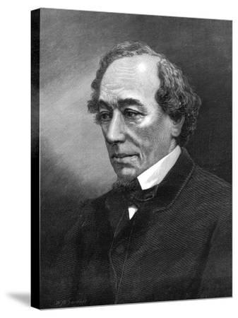 Benjamin Disraeli, (1804-1881)--Stretched Canvas Print