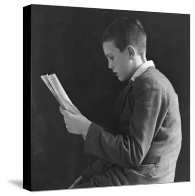 Boy Reading, Photographic Portrait 1936--Stretched Canvas Print