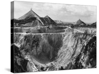 China Clay Quarry--Stretched Canvas Print