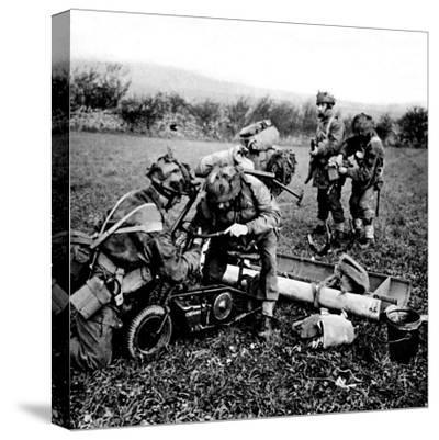 British Paratroops on Exercise in England; Second World War--Stretched Canvas Print