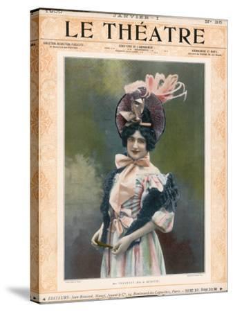 Cecile Thevenet Mezzo-Soprano, Seen Here in the Role of Musette in Leoncavallo's 'La Boheme'--Stretched Canvas Print