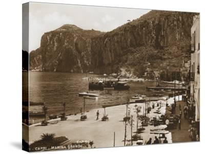 Grand Harbour/Marina - Island of Capri--Stretched Canvas Print