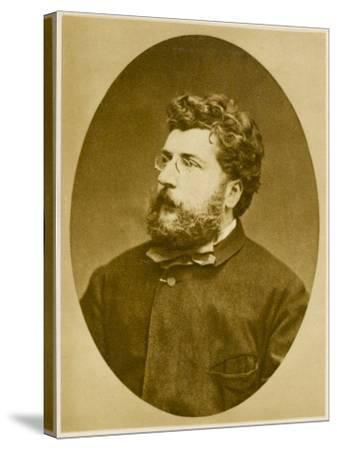 Georges Bizet French Musician, Composer of 'Carmen' and Others, in 1874--Stretched Canvas Print