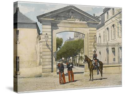 Entrance to Saint-Cyr--Stretched Canvas Print