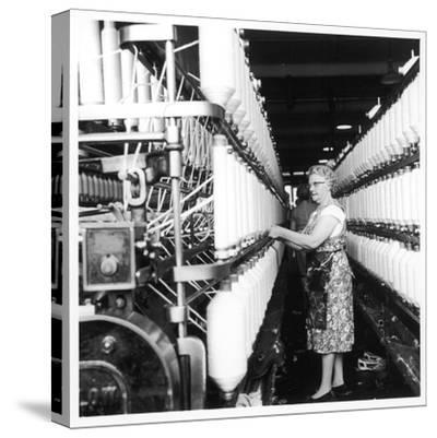 Female Operator, Howe Bridge, Lancashire-Henry Grant-Stretched Canvas Print