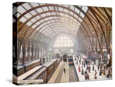 London Kings Cross--Stretched Canvas Print