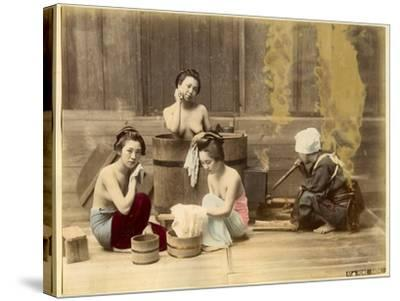 Japanese Home Bath--Stretched Canvas Print