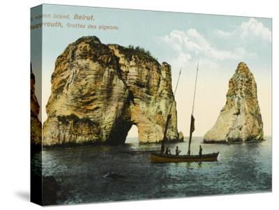 Pigeon Island, Off the Coast of Beirut, Lebanon--Stretched Canvas Print