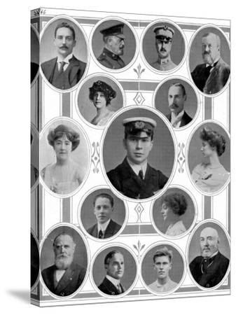 On Board the Titanic: Notable Passengers--Stretched Canvas Print