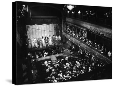 Old Time Music Hall Show--Stretched Canvas Print