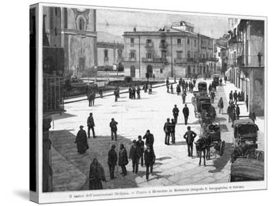 Piazza E Municipio at Monreale, at the Time of the 1894 Insurrection--Stretched Canvas Print