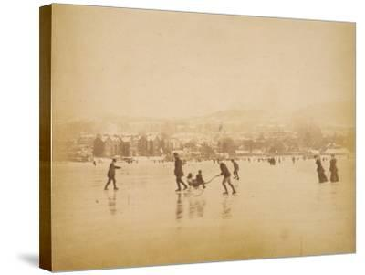 Skating on Windermere--Stretched Canvas Print