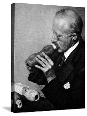 Sir Richard Paget, Speaking Through an Artifical Throat--Stretched Canvas Print