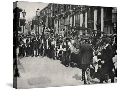 Petticoat Lane Market, East End of London-Peter Higginbotham-Stretched Canvas Print