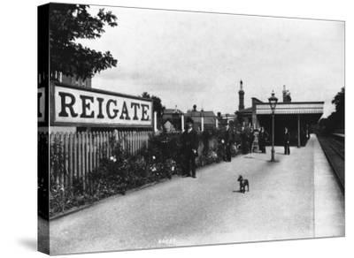 Reigate Station, Surrey--Stretched Canvas Print