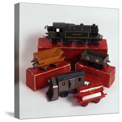 Set of Hornby Toy Trains and Rolling Stock--Stretched Canvas Print