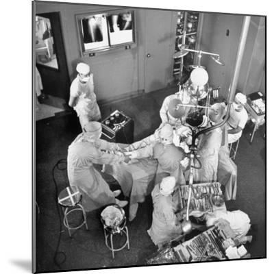 An Artifical Hip Joint Surgery-Al Fenn-Mounted Premium Photographic Print