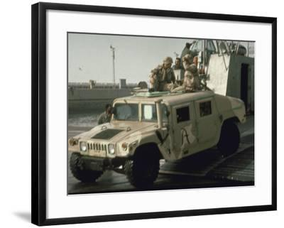 "US Navy Amphibious Ready Group Deploy in 1st Post-Gulf War US/Kuwait Joint Exercise ""Eager Mace""--Framed Premium Photographic Print"