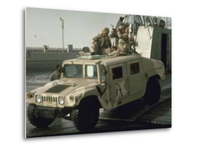 "US Navy Amphibious Ready Group Deploy in 1st Post-Gulf War US/Kuwait Joint Exercise ""Eager Mace""--Metal Print"