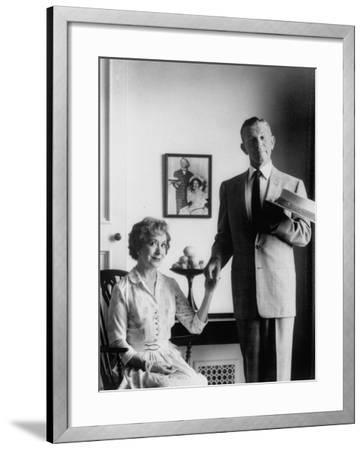 Comedian George Burns with Wife, Comedian Gracie Allen, in a Still for their TV Series-Allan Grant-Framed Premium Photographic Print