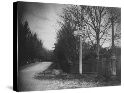 A Street Sign Saying Tarrytown, Saw Mill River Valley, Saw Mill Road, Ny-Wallace G^ Levison-Stretched Canvas Print
