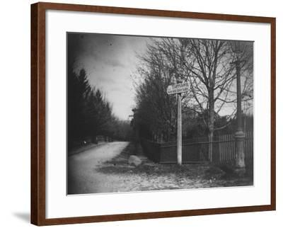 A Street Sign Saying Tarrytown, Saw Mill River Valley, Saw Mill Road, Ny-Wallace G^ Levison-Framed Premium Photographic Print