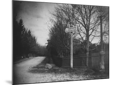 A Street Sign Saying Tarrytown, Saw Mill River Valley, Saw Mill Road, Ny-Wallace G^ Levison-Mounted Premium Photographic Print