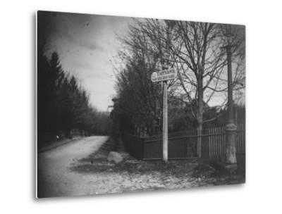 A Street Sign Saying Tarrytown, Saw Mill River Valley, Saw Mill Road, Ny-Wallace G^ Levison-Metal Print