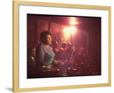 "Jazz Singer Ella Fitzgerald Performing at ""Mr. Kelly's"" Nightclub-Yale Joel-Framed Premium Photographic Print"