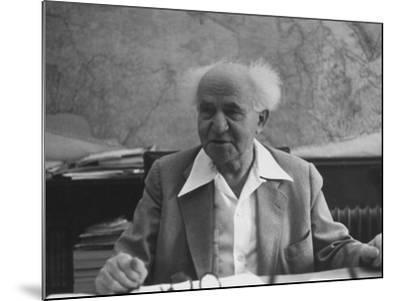 Israeli Prime Minister David Ben-Gurion-Gjon Mili-Mounted Premium Photographic Print