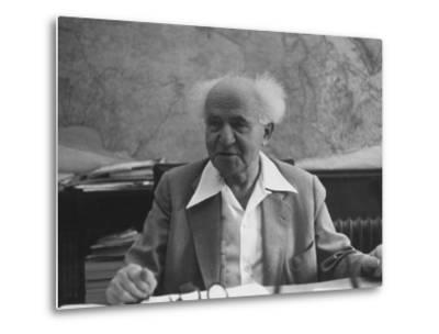 Israeli Prime Minister David Ben-Gurion-Gjon Mili-Metal Print