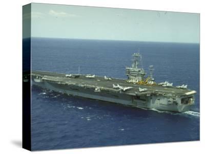 Uss Nimitz, Aircraft Carrier, Off VA--Stretched Canvas Print